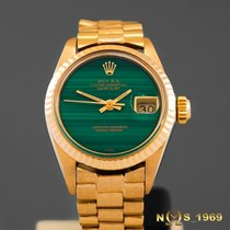 Rolex President Datejust 6917 18K Gold Malachite Dial