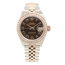 勞力士 (Rolex) Lady Datejust 18k Rose Magic Diamond Brown...