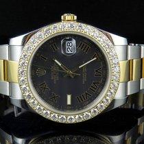 Rolex Mens 41 MM 116333 Rolex DateJust II Two Tone Diamond...