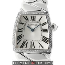 Cartier La Dona Collection Large 18k White Gold Diamond Bezel...