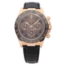 Rolex Daytona 116515LN - Gents Rose Gold Watch - Leather Strap...