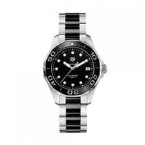 TAG Heuer Aquaracer Quartz Stainless Steel Black Dial Ladies...