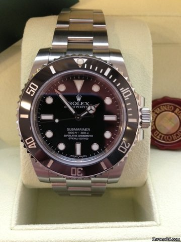 rolex submariner no date 40 mm edelstahl ref 114060 f r 6. Black Bedroom Furniture Sets. Home Design Ideas