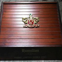Hamilton vintage wooden box display for khaki limited series 1945