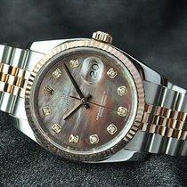 Rolex Datejust, Ref.116231-schwarz Perlmutt Diamant ZB/Jubilee...