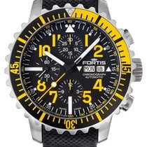 Fortis Aquatis 42 Marinemaster Yellow Chronograph