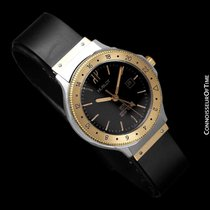 Hublot MDM Two-Tone Midsize Mens GMT Watch - Stainless Steel...