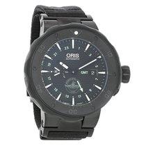 Oris Force Recon GMT Mens Automatic Titanium Watch 74777157754FS
