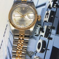 Rolex Datejust 18k Yellow Gold/Stainless Steel Grey Roman Dial...