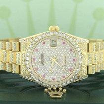 Rolex President Datejust Midsize Gold 31MM w/5.5Ct Diamond...