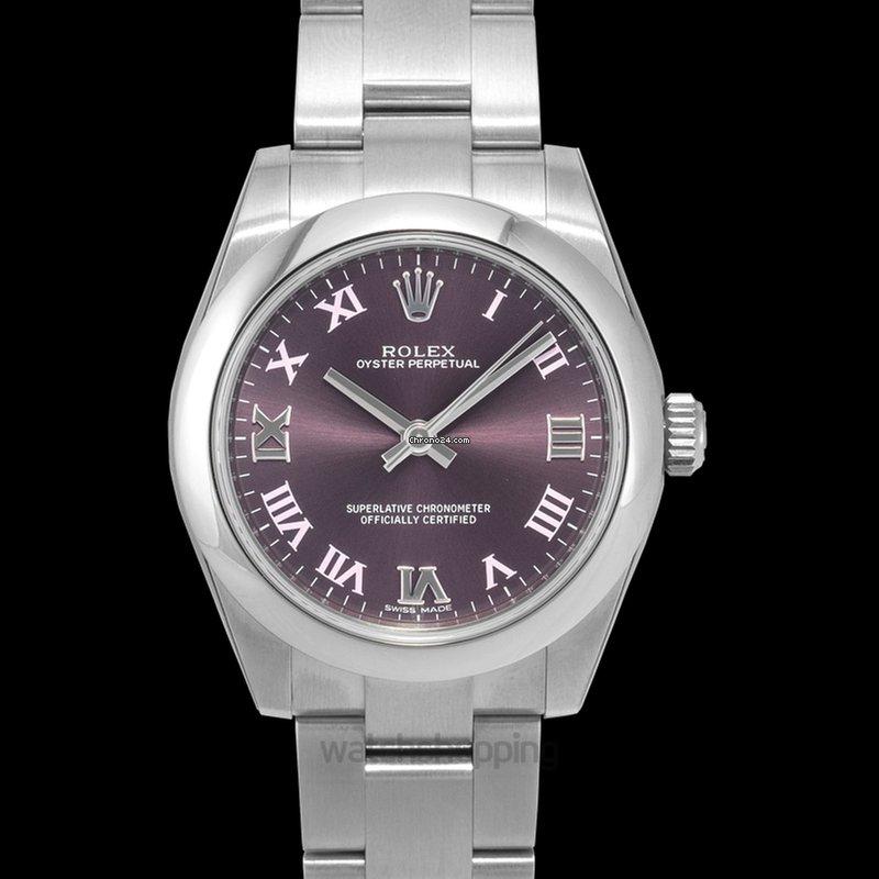 662fe3237a2 Rolex Oyster Perpetual Midsize Purple Steel Ø31 mm - 177200 por 4.025 €  para vender por um Trusted Seller na Chrono24