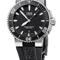 Oris Aquis Date, Ceramic Top, Black Dial, Rubber Bracelet
