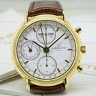Eterna Triple Date Calendar Chronograph 18K Yellow Gold
