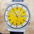 Seiko 5 Vintage Mens Yellow Dial Automatic Made In Japan...
