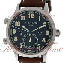 Patek Philippe Calatrava Pilot Travel Time, Blue Varnished...