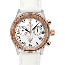 Junkers F13 Ladies Chrono Watch White Dial R/gold Case...