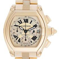 Cartier Roadster Chronograph 18k Yellow Gold Men's Watch