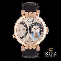 Harry Winston 18K Rose Gold Premier Excenter Timezone