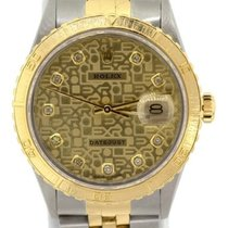 Rolex Datejust Men's 36mm Yellow Dial Stainless Steel And...