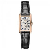 Longines DolceVita Quartz Rose Gold Silver Dial Ladies Watch...