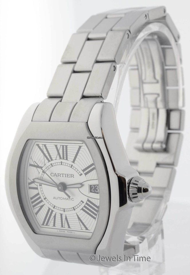 aeffb0be1ec Cartier Mens Large Roadster Automatic Watch Steel Box Papers... for Rs.  369