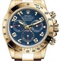 Rolex Cosmograph Daytona 116528 116528-BLUA Blue Arabic 18k...