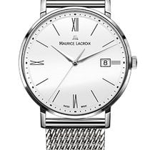 Maurice Lacroix Eliros Date White Dial, Steel Milanaise Strap,...