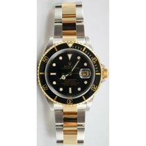 Rolex Submariner 16613 Stainless Steel and Gold Black Dial...