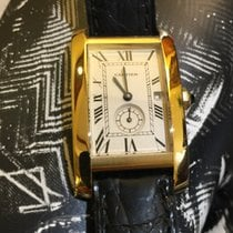 Cartier Tank Americaine medium in oro 18 kt con deployantes