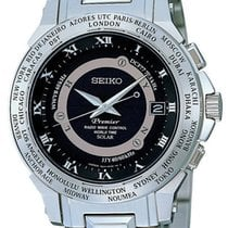 Seiko Premier Radio Wave Control World Time Solar SPP001J1