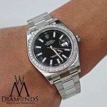 Rolex Mens Rolex Datejust Ii Black 41mm  Automatic Watch...