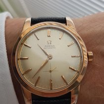 Omega 344 Automatic Rose Gold Plated Big Size + Box