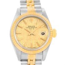 Rolex Datejust Steel 18k Yellow Gold Linen Dial Ladies Watch...