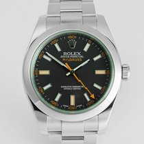 "Rolex Milgauss ""Green Glass"" Full Set"