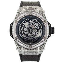 Hublot Big Bang  Sang Bleu Titanium Pavé