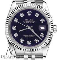 Rolex Purple Dial Womens Rolex 26mm Datejust W Diamond Numbers...