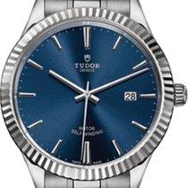튜더 (Tudor) Style 12710 Blue Index Fluted Stainless Steel 41mm...