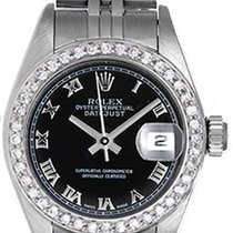 Rolex Ladies Diamond Rolex Datejust Steel & White Gold...