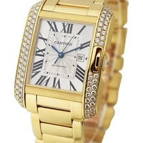 Cartier WT100006 Tank Anglaise Medium in Yellow Gold with...