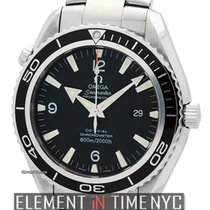 오메가 (Omega) Seamaster Planet Ocean Stainless Steel Black Dial...