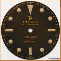 Rolex Dial Submariner Ref 6536 Depth Gilt Dial Stock #47DG