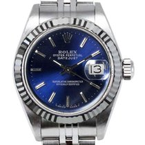 Rolex Women's Datejust Stainless Steel  Blue Index Dial