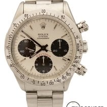 Rolex Daytona 6265 Chrono Steel White Dial Red 1979 Watch