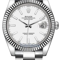 Rolex Datejust 41mm Stainless Steel 126334 White Index Oyster