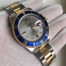 Rolex Submariner Date 16613 serti dial 18k diamonds/sapphires