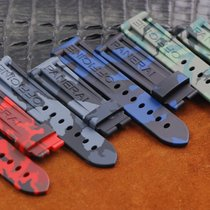 Camo Rubber Strap / band  for Panerai 44mm case ( red /blue/gr...