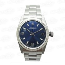 Rolex Oyster Perpetual white gold bezel B&P