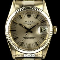 Rolex 18k Yellow Gold Champagne Dial Mid-Size Date 6827