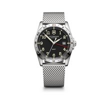 Victorinox Swiss Army Infantry GMT dark grey dial, steel mesh...