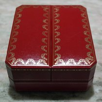 Cartier vintage watch box red leather for santos model